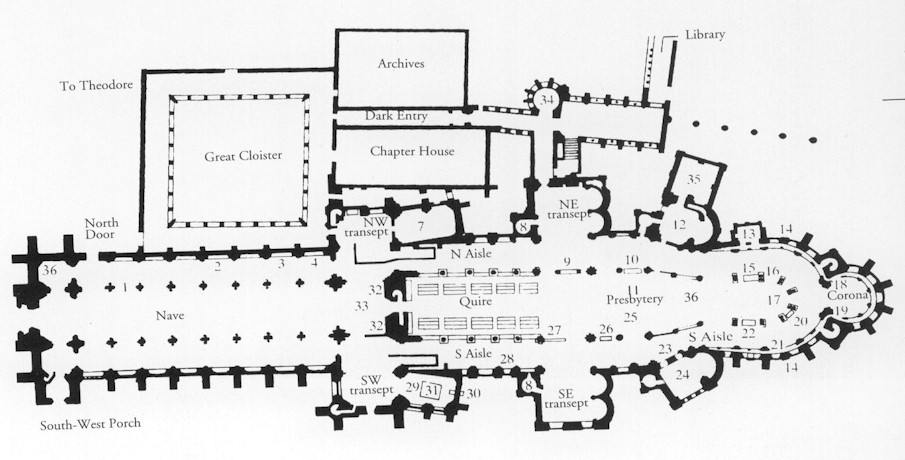 Cathedral quest england 2003 day 3 canterburyp Canterbury floor plan